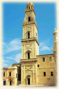 Baroque city Lecce and Piazza Duomo